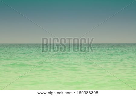 A colourful shot of the ocean at Jumeirah beach in Dubai, UAE