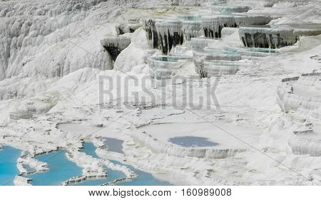 fabulous landscape, pools of water rich in calcium