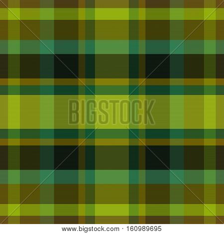 abstract vector tartan seamless - green brown and teal