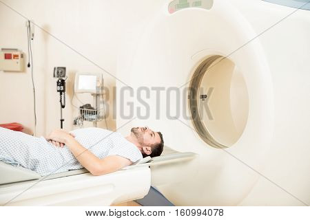 Worried Patient Getting A Tomography