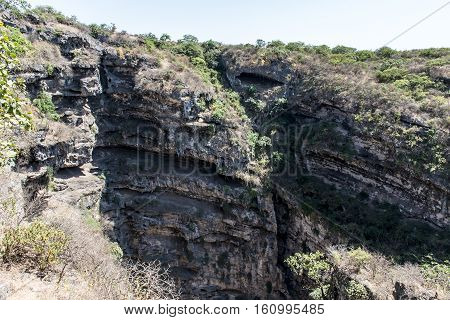 big natural sinkhole in oman Dofar mountains region salalah tawi atayr attair