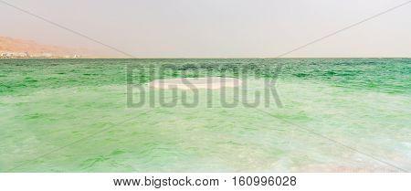 Dead Sea the landscape sunny summer day