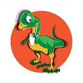Cartoon Vegan Herbivorous Jurassic Picky Fussy Reptile Dinosaur Chilesaurus poster