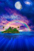 Floating Tropical Island poster