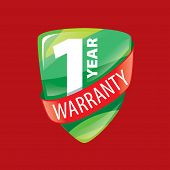 logo 10 years warranty. Vector illustration of icon poster