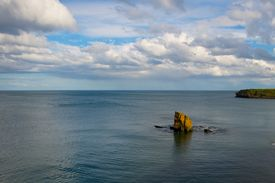 Seascape With Lone Rock