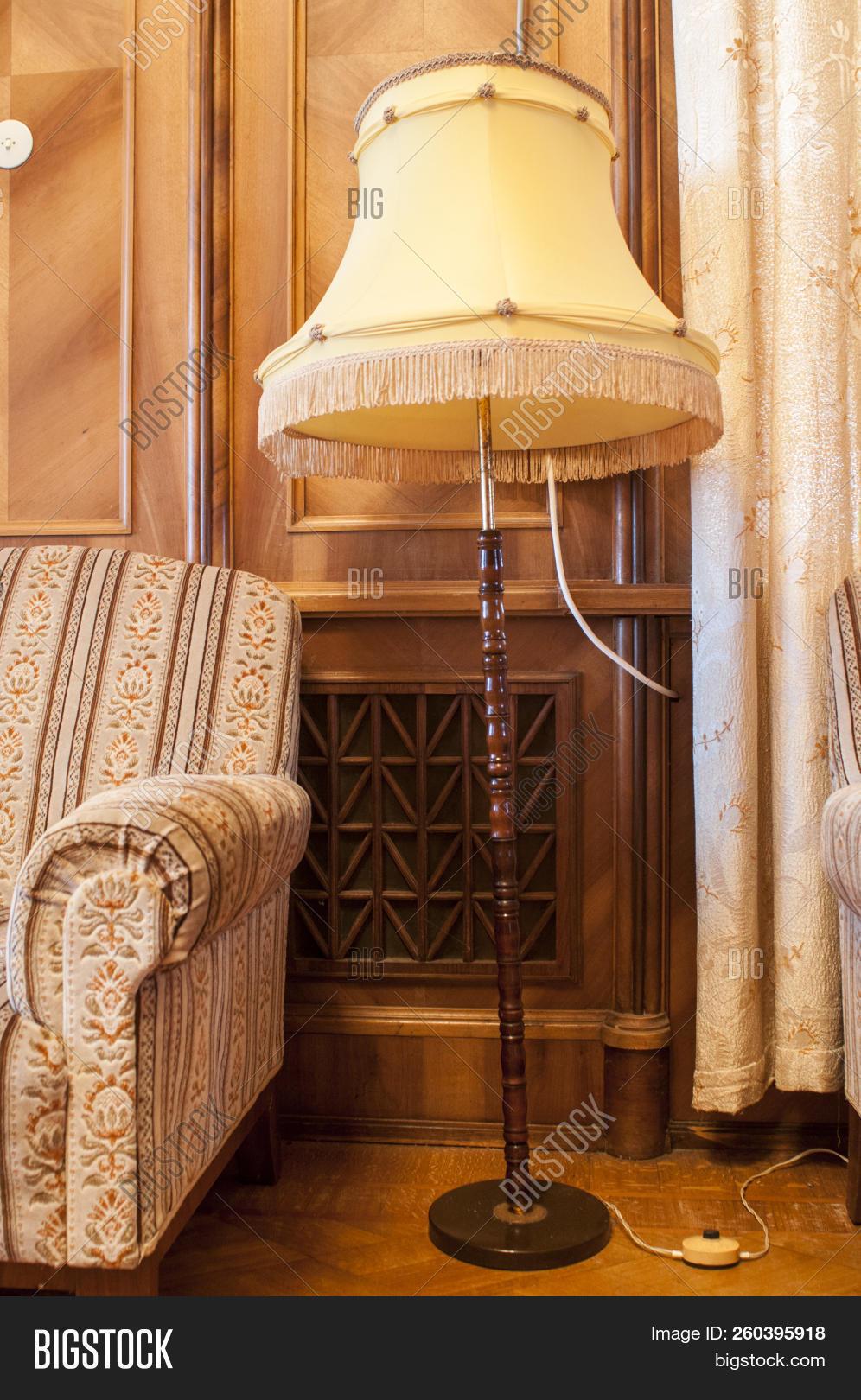 Retro Chair Floor Lamp Image Photo Free Trial Bigstock