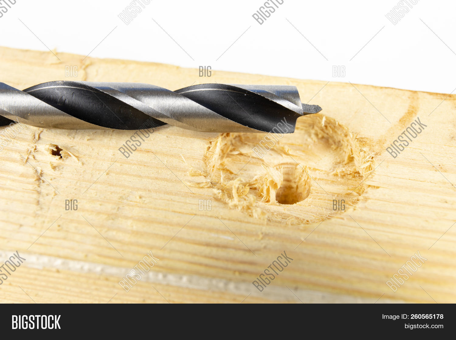 Drilling Holes Wood Image Photo Free Trial Bigstock