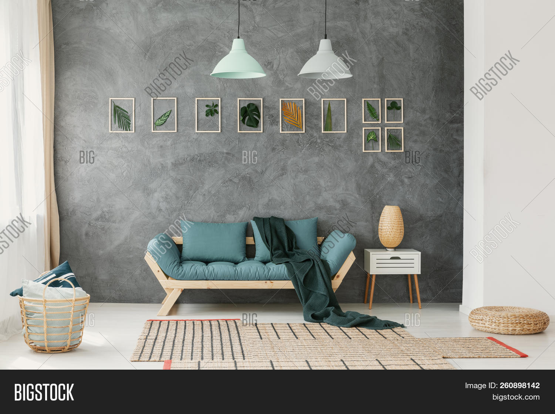 Tremendous Wicker Basket Ottoman Image Photo Free Trial Bigstock Unemploymentrelief Wooden Chair Designs For Living Room Unemploymentrelieforg