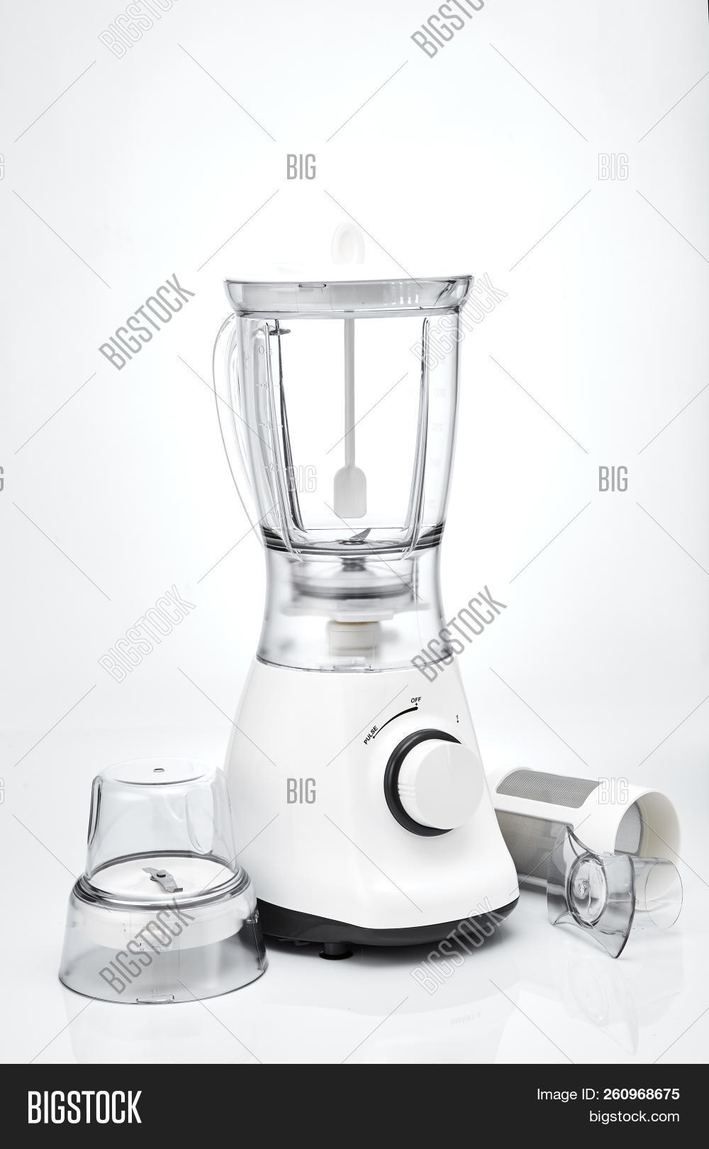 Blender Empty White Electric Juice On A Background