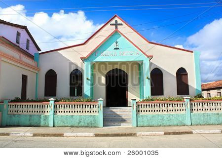 Bautista church in Baracoa, Guantanamo province, Cuba