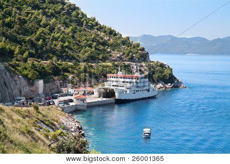 Seaside with  traject port Prapratno, Croatia