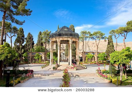 Tomb Aramgah-e Hafez  in Shiraz, Iran