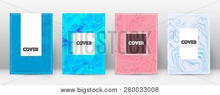 Abstract Cover. Imaginative Design Template. Suminagashi Marble Hipster Poster. Imaginative Trendy A