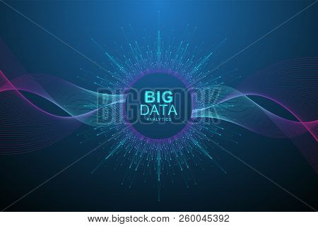 Big Data Visualization. Graphic Abstract Background Artificial Intelligence And Machine Learning. Pe