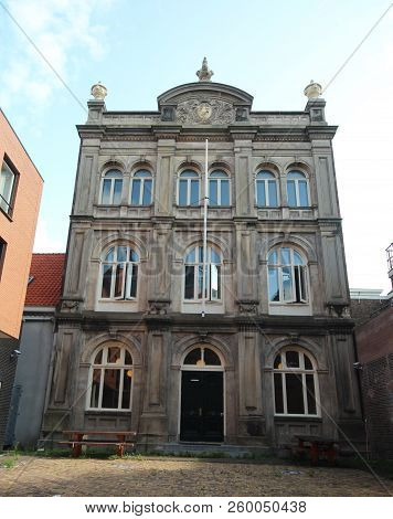 Old Building Of One Of The First Higher Educaion Schools In The Hague At The Bleijenburg In Den Haag