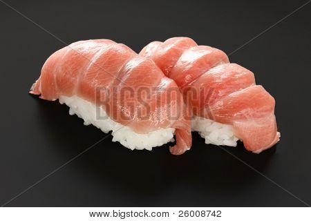 two otoro ,  tuna sushi , japanese food poster