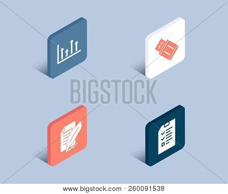 Set Of Upper Arrows, Feather Signature And Usb Flash Icons. Interview Sign. Growth Infochart, Feedba