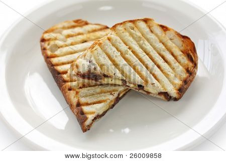 chocolate banana panini , grilled sandwich