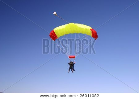 Paragliding duo in the air poster