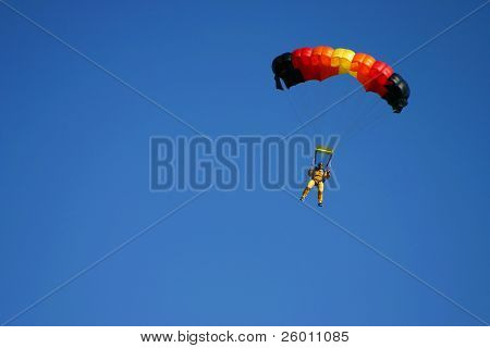 Paragliding pilots in the air