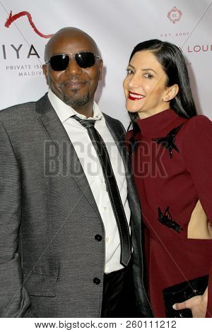 Mohamed A. Salih and Gaia Melikian arrive at the 9th Annual Face Forward Gala at the Beverly Wilshire Hotel in Beverly Hills, CA on Sept. 22, 2018.