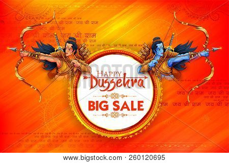Lord Rama And Laxmana In Navratri Festival Of India Sale Promotion Ans Advertisement Poster For Happ