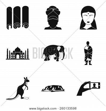 Religious Journey Icons Set. Simple Set Of 9 Religious Journey Icons For Web Isolated On White Backg