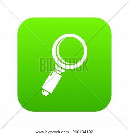 Loupe Icon Green Isolated On White Background