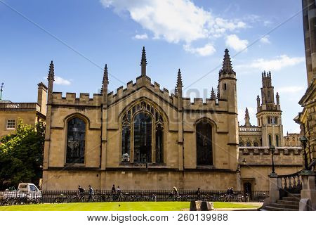 Oxford, United Kingdom- June 08, 2015: Bodleian Libraries Is The Largest University Library System I