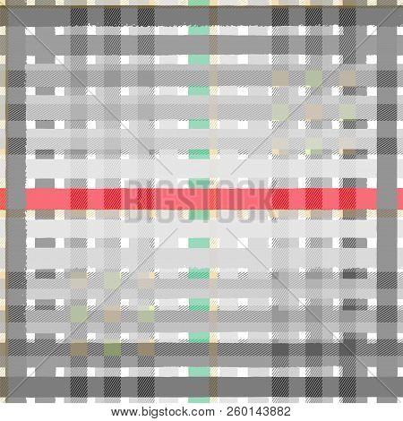 Tartan Colored Seamless Pattern Background, Vector Illustration