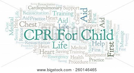 Cpr For Child Word Cloud, Made With Text Only