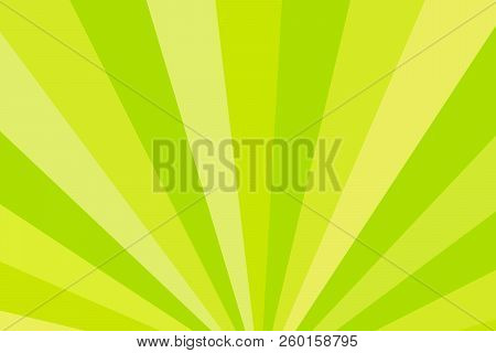 Yellow And Green Rays. Radial Rays Abstract Background. Colorful Background For Your Design. Vector