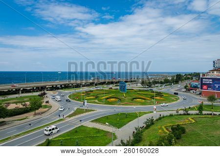 Trabzon, Turkey - June 2018: View Of Trabzon City Center, Turkey. Trabzon Is A Major Port City By Th