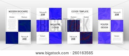 Abstract Cover. Imaginative Design Template. Suminagashi Marble Business Poster. Imaginative Trendy