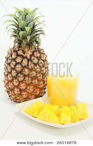 Delicious fresh pineapple