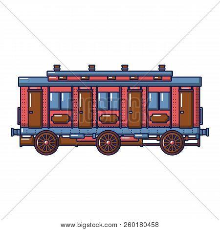 Medieval Passenger Wagon Icon. Cartoon Of Medieval Passenger Wagon Icon For Web Design Isolated On W