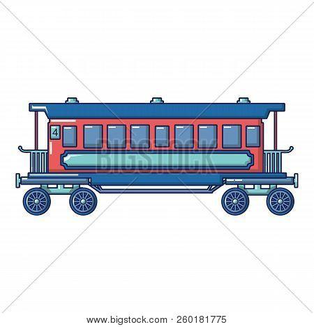 Retro Passenger Wagon Icon. Cartoon Of Retro Passenger Wagon Icon For Web Design Isolated On White B