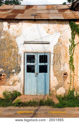 Door Of A Rundown House