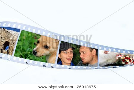 Film strip with snap shots