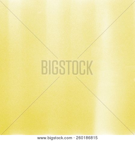 Yellow Abstract Texture Background With Grain And Light Leak