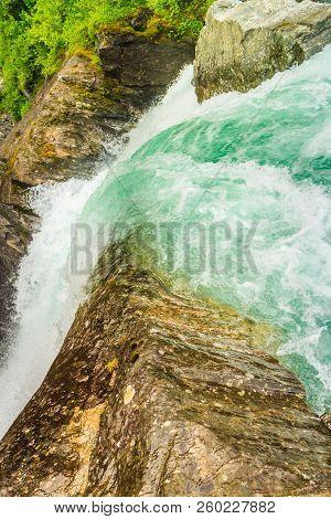 Videfossen Waterfall In Norway