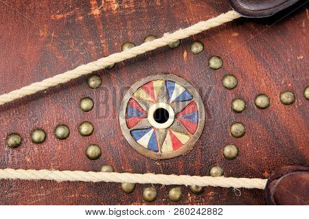 Unique design on the shell of an original Civil War union army snare drum. poster