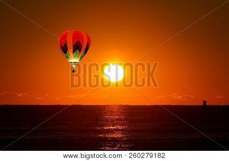 Sun-rising At The Palm Beach Florida, Usa