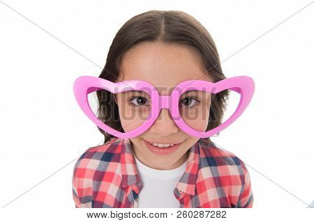 Love From First Sight. Kid Happy Lovely Feels Sympathy. Kid Girl Heart Shaped Eyeglasses. Girl Adora
