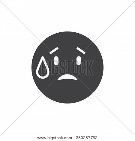 Embarrassed emoticon vector icon. filled flat sign for mobile concept and web design. Worried emoji simple solid icon. Symbol, logo illustration. Pixel perfect vector graphics poster