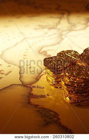 Treasure Map And Doubloons