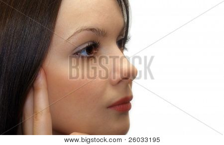 Woman looking forward
