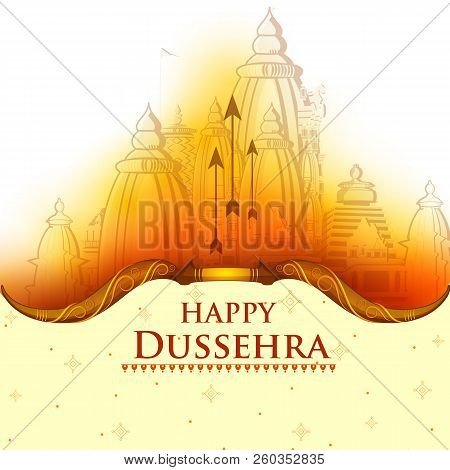 Happy Dussehra Navratri Celebration India Holiday Background