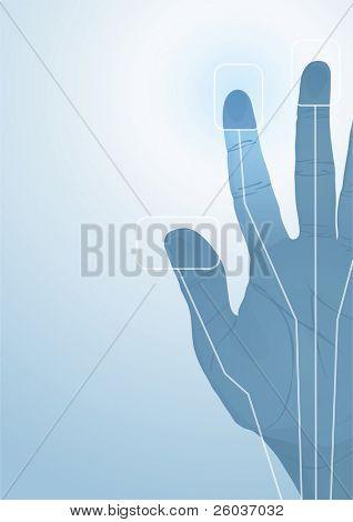 The cybernetics hand. Vector illustration